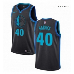 Mens Nike Dallas Mavericks 40 Harrison Barnes Swingman Charcoal NBA Jersey City Edition