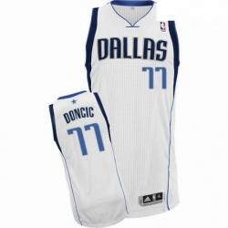 Mens Nike Dallas Mavericks 77 Luka Doncic Authentic White Home NBA Jersey Association Edition