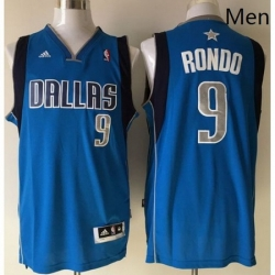 Revolution 30 Mavericks 9 Rajon Rondo Sky Blue Stitched NBA Jersey