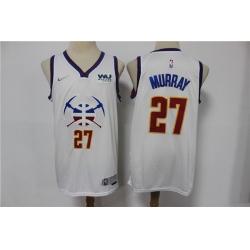 Men Denver Nuggets 27 Jamal Murray White Nike Swingman 2021