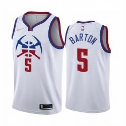 Men Denver Nuggets 5 Will Barton White NBA Swingman 2020 21 Earned Edition Jersey