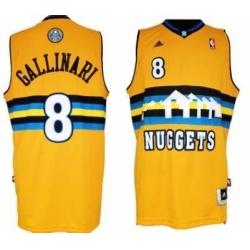 Men Denver Nuggets #8 Danilo Gallinari Revolution 30 Swingman Jersey