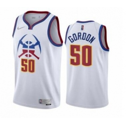 Men Denver Nuggets Aaron Gordon 50 White Nike Swingman Jersey
