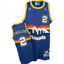 Men Denver Nuggets Alex English #2 Swingman Light Blue Adidas Throwback Jersey