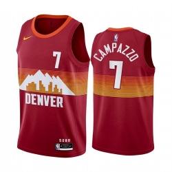 Men Denver Nuggets Facundo Campazzo Red 2021 New Jersey