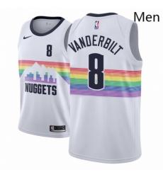 Men NBA 2018 19 Denver Nuggets 8 Jarred Vanderbilt City Edition White Jersey