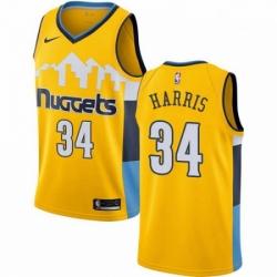 Mens Nike Denver Nuggets 34 Devin Harris Swingman Gold Alternate NBA Jersey Statement Edition