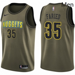 Mens Nike Denver Nuggets 35 Kenneth Faried Swingman Green Salute to Service NBA Jersey