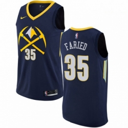 Mens Nike Denver Nuggets 35 Kenneth Faried Swingman Navy Blue NBA Jersey City Edition