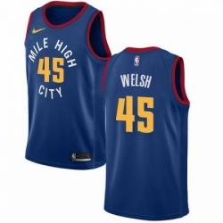 Mens Nike Denver Nuggets 45 Thomas Welsh Swingman Light Blue NBA Jersey Statement Edition