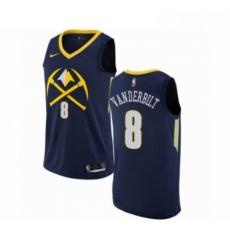 Mens Nike Denver Nuggets 8 Jarred Vanderbilt Swingman Navy Blue NBA Jersey City Editio