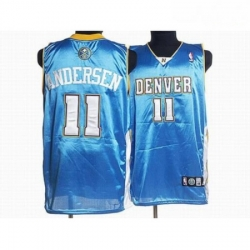 Nuggets 11 Chris Andersen Stitched Baby Blue NBA Jersey