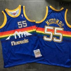 Nuggets 55 Dikembe Mutombo Blue 1991 92 Hardwood Classics Swingman Jersey