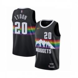 Youth Denver Nuggets #20 Tyler Lydon Swingman Black Basketball Jersey - 2019 20 City Edition