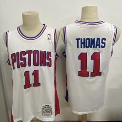 Men Detroit Pistons 11 Isiah Thomas White 1988 89 Hardwood Clas