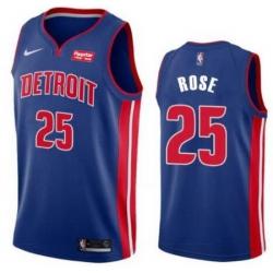Men Detroit Pistons Nike Road Derick Rose 25 Swingman Jersey