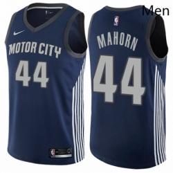 Mens Nike Detroit Pistons 44 Rick Mahorn Authentic Navy Blue NBA Jersey City Edition