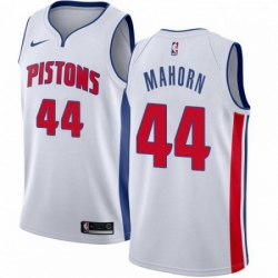 Mens Nike Detroit Pistons 44 Rick Mahorn Authentic White Home NBA Jersey Association Edition