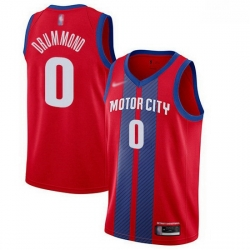 Pistons  0 Andre Drummond Red Basketball Swingman City Edition 2019 20 Jersey