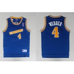 Adidas NBA Golden State Warriors 4 Webber Swingman Throwback Blue Jersey