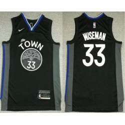 Men Golden State Warriors 33 James Wiseman Black 2021 Nike Swingman Stitched NBA Jersey