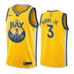 Men Golden Warriors 3 Kelly Oubre Jr. Men Stitched NBA Jersey