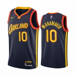 Men Nike Golden State Warriors 10 Brad Wanamaker Navy NBA Swingman 2020 21 City Edition Jersey