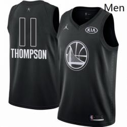 Mens Nike Jordan Golden State Warriors 11 Klay Thompson Swingman Black 2018 All Star Game NBA Jersey
