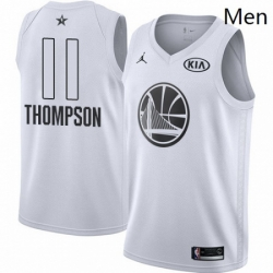 Mens Nike Jordan Golden State Warriors 11 Klay Thompson Swingman White 2018 All Star Game NBA Jersey
