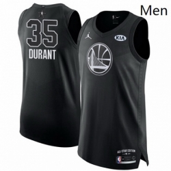 Mens Nike Jordan Golden State Warriors 35 Kevin Durant Authentic Black 2018 All Star Game NBA Jersey