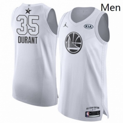 Mens Nike Jordan Golden State Warriors 35 Kevin Durant Authentic White 2018 All Star Game NBA Jersey