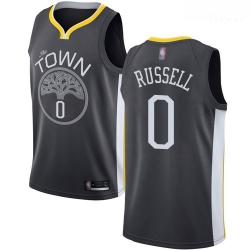 Warriors #0 D 27Angelo Russell Black Basketball Swingman Statement Edition Jersey