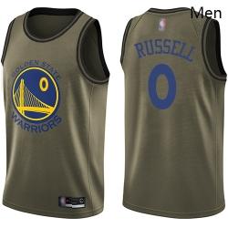 Warriors #0 D 27Angelo Russell Green Basketball Swingman Salute to Service Jersey