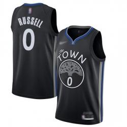 Warriors  0 D Angelo Russell Black Basketball Swingman City Edition 2019 20 Jersey