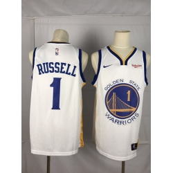 Warriors 1 D 27angelo Russell White City Edition Nike Swingman Jersey