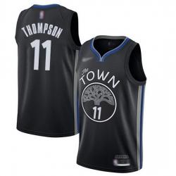 Warriors  11 Klay Thompson Black Basketball Swingman City Edition 2019 20 Jersey