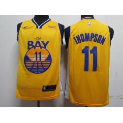 Warriors 11 Klay Thompson Blue 2020 New Nike Swingman Jersey