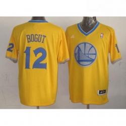 Warriors 12 Andrew Bogut Gold 2013 Christmas Day Swingman Stitched NBA Jersey