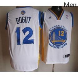Warriors 12 Andrew Bogut White Stitched NBA Jersey