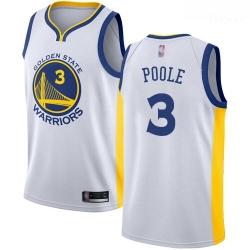 Warriors #3 Jordan Poole White Basketball Swingman Association Edition Jersey