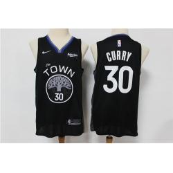 Warriors 30 Stephen Curry Black 2019 20 City Edition Nike Swingman Jersey