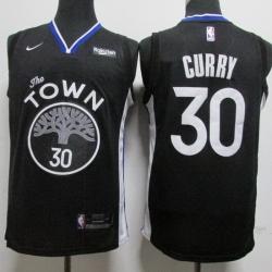 Warriors 30 Stephen Curry Black Nike Swingman Jersey
