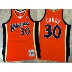 Warriors 30 Stephen Curry Orange 2009 10 Hardwood Classics Jersey