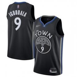 Warriors  9 Andre Iguodala Black Basketball Swingman City Edition 2019 20 Jersey