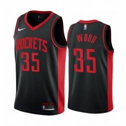 Men Houston Rockets 35 Christian Wood Black NBA Swingman 2020 21 Earned Edition Jersey