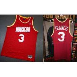 Men Houston Rockets Steve Francis Red Jersey