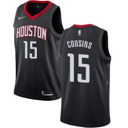 Men Nike Houston Rockets 15 DeMarcus Cousins Black NBA Swingman Statement Edition Jersey