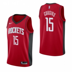 Men Nike Houston Rockets 15 DeMarcus Cousins Men 2019 20 Icon Edition Red Stitched NBA Jersey