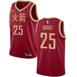 Men Nike Houston Rockets 25 Jerian Grant Red NBA Swingman City Edition 2018 19 Jersey