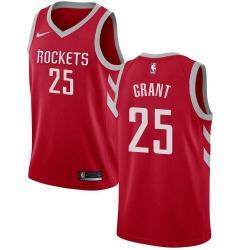 Men Nike Houston Rockets 25 Jerian Grant Red NBA Swingman Icon Edition Jersey